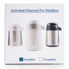image of 12 charcoal filters for the megahome water distiller.